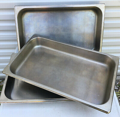Lot Of 7 Stainless Steel 2.5 Deep Full Size Steam Table Pans Hotel