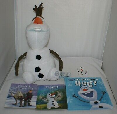 "Disney Frozen Books, Olaf 17"" Tall Stuffed Animal Plush & 2 Small Olaf Lot NWT"