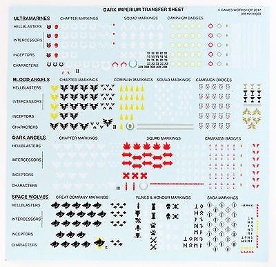 Space Marine Decals Transfer Sheets Abziehbilder Dark Imperium