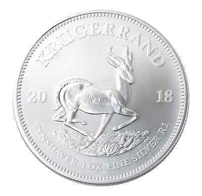 Lot of 10 - 2018 1oz South African Silver Krugerrand .999 BU