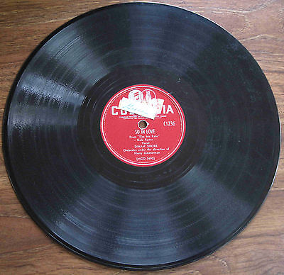 "Dinah Shore - 78 rpm (Canada)- ""So In Love"" / ""Always True To You In My Fashion"""