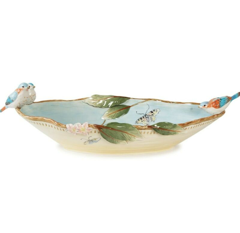 BRAND NEW IN BOX - Fitz & Floyd Toulouse Centerpiece Bowl (LOCAL PICKUP)