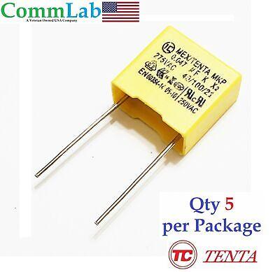 0.047uf 275v Polypropylene Safety Capacitor P10 5 Pieces .047uf