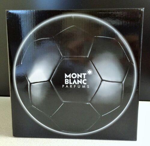 Mont Blanc Parfums Black Latex/Polyurethane Soccer Ball w/Pump Needle- NIB