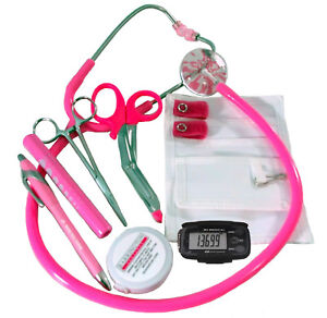 Breast Cancer Awareness Nurse Kit with Hot Pink Stethoscope