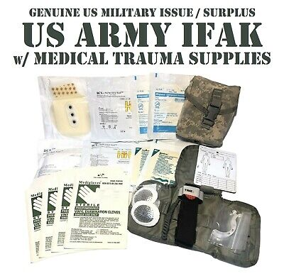 TACTICAL TRAUMA KIT STOCKED IFAK ACU POUCH INSERT FIRST AID KIT BCS US MILITARY