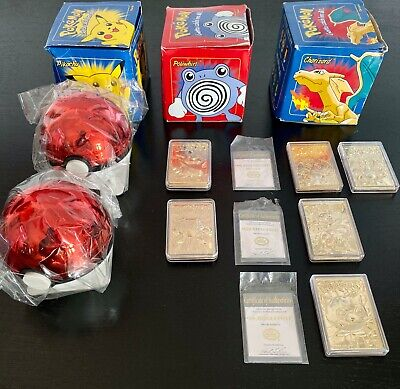 1999 BK Burger King 23k Gold Plated Pokemon Cards Set. Includes Extras! RARE.