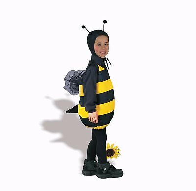 Bumble Bee Costume Kids (Honey Bee Bumblebee CHILD Costume One Size 3-5 Years Old NEW Black)