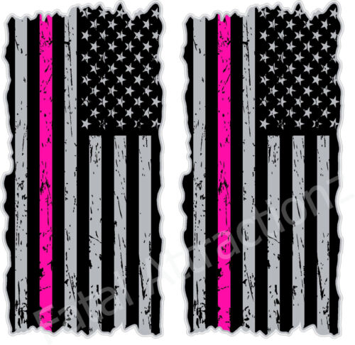 American Flag Hot Pink Line Cornhole Cover Vinyl Decal sticker breast cancer