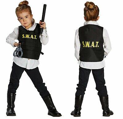 Kinder Kostüm SWAT Weste m. Zubehör Polizei Sondereinsatz - Swat Kostüme Zubehör