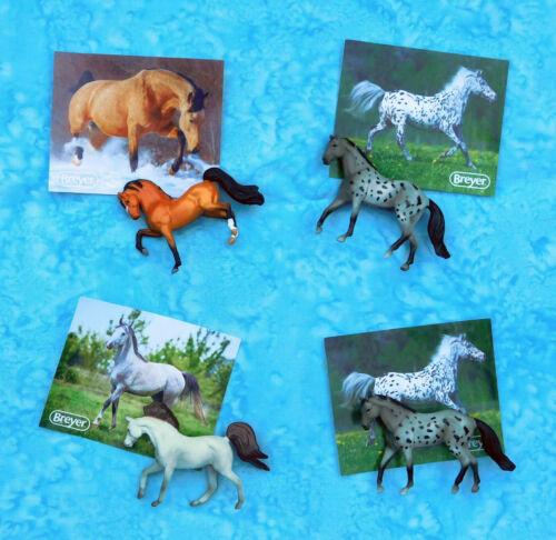Lot of 4 Breyer Mini Whinnies Horses - Walmart Series 3