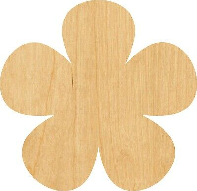 Flower #0520 Laser Cut Out Wood Shape Craft Supply - - Flower Cut Outs
