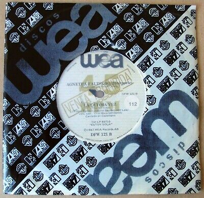 AGNETHA FALTSKOG ABBA 45 PROMO The Last Time SUNG IN SPANISH Foreign Edit. 1988