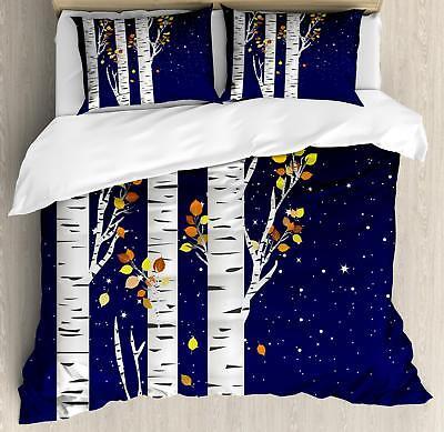 Birch Duvet Cover Set Twin Queen King Sizes with Pillow Sham
