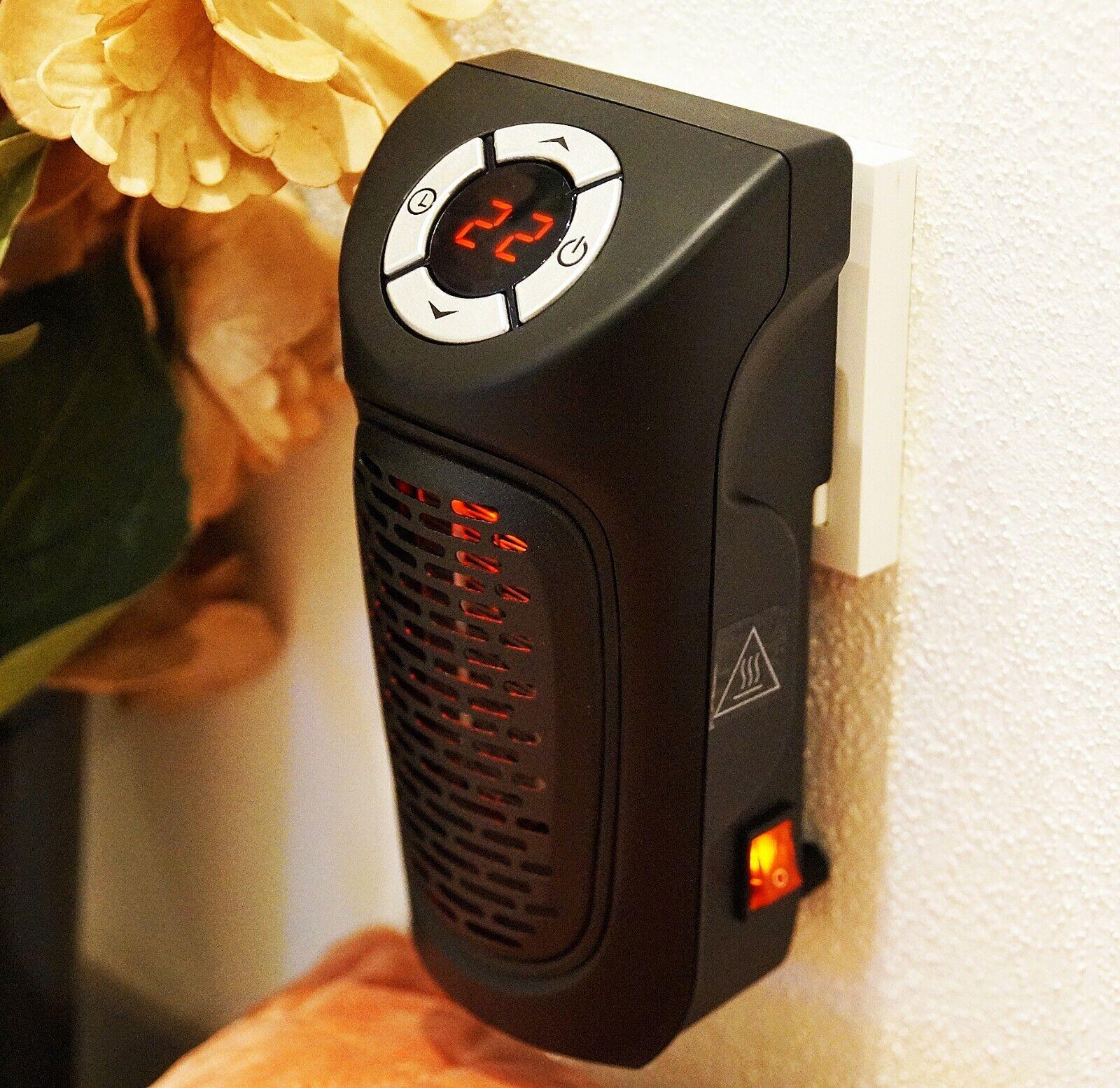 Digitaler Heizlüfter 350W Steckdose 230V Mini Heizung Elektro Heizgerät Timer