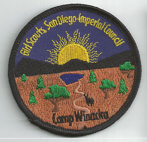 san diego imperial girl scout camp patch   camp winacka ebay