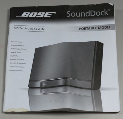 Bose Sound Dock Portable Digital Music System Owners Guide Manual Only