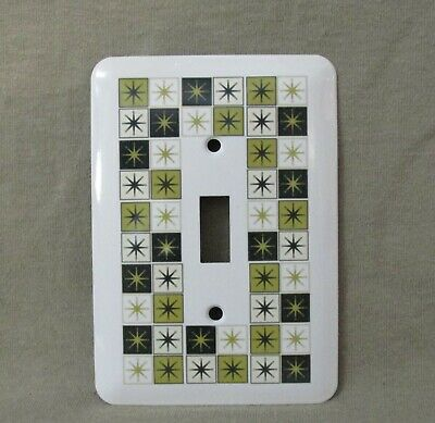 Mid Century Retro Atomic Image LIGHT SWITCH OR OUTLET COVERS HANDMADE 1950/'s
