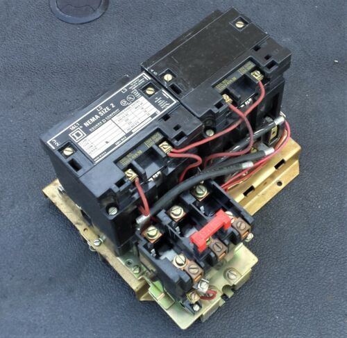 Square D 8736-SD02-V02S Series A NEMA Reversing Motor Starter, Size 2, 120V Coil
