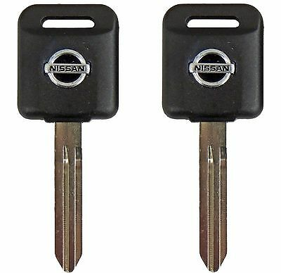 2 Ignition Key Blanks for Nissan 350Z Transponder Chip Key ID46