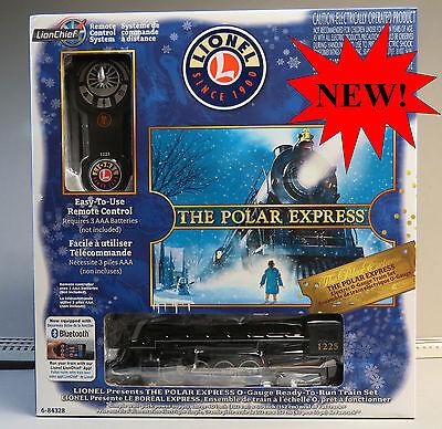 LIONEL THE POLAR EXPRESS LIONCHIEF STEAM TRAIN SET BLUETOOTH O GAUGE 6-84328 NEW