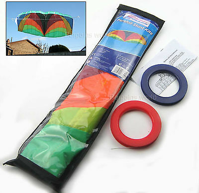 """1.2m POWER PARAFOIL STUNT KITE 2 LINE POWERFUL EASY TO FLY UNBREAKABLE 47"""" SPAN"""