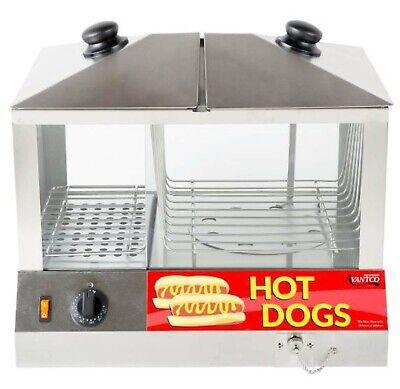 Avantco 100 Hot Dog 48 Bun Hot Dog Steamer Stand Warmer Commercial Concession