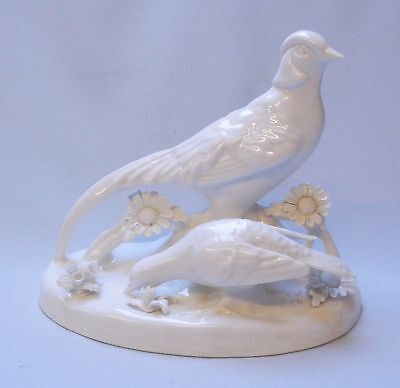 Crown Staffordshire Pheasant and Pigeon Model - Made in England
