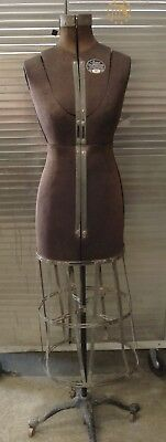 Vintage Acme Dress Form Size A Lm Adjustable Victorian Cast Iron Base
