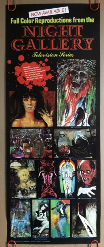Original Vintage Poster Night Gallery 1970s TV Series Monster Horror Scary Devil