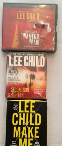 Lot of 3 Lee Child Audiobooks, Books on CD JACK REACHER Make Me, more