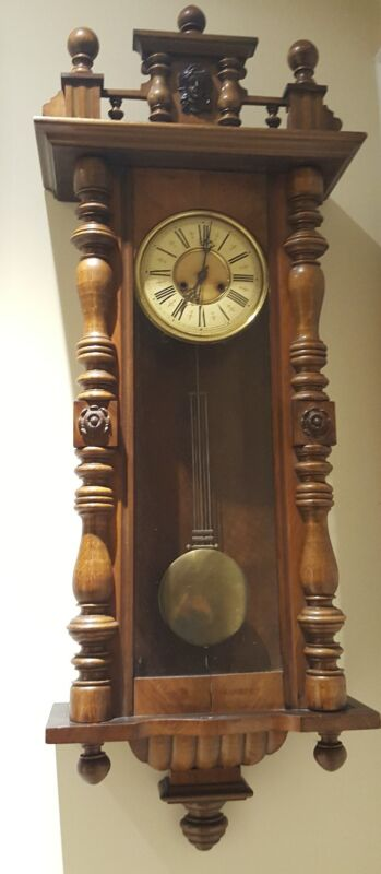 Antique Huge Working 19th C. Kienzle Vienna Regulator Walnut Wall Clock Germany