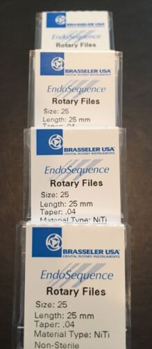 1 Pack of Brasseler Endosequence Rotary Files 25 Taper .04 25mm