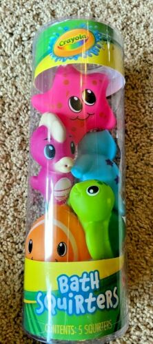 Crayola Bath Squirters 5 Bath Toys NEW Nemo Fish Starfish Turtle Seal Sea Horse