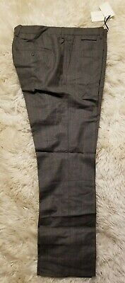 NWT $450 Mauro Grifoni  ITALY WOOL GRAY WITH RUST PLAID @S  INCOTEX  35
