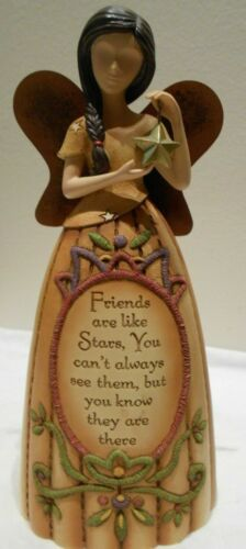 """Angel """" Friends """" Figurine With Metal Wings By Pavilion Country Soul  29005"""