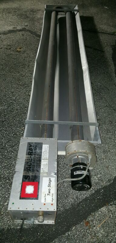 SPACE RAY TWO (2) STAGE INFRARED TUBE GAS HEATER