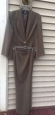 Jones Wear 2pcs Pant Suit Brown Size 12
