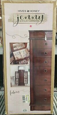 """Hives Honey """"Jenny"""" Jewelry Armoire New In Box"""