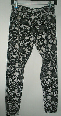 Halloween Leggings black and white, elastic waist (size - Halloween-leggings