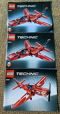 LEGO ~ 9394 TECHNIC RED JET PLANE ~ INSTRUCTION BOOKLET MANUAL ONLY ~ NO BRICKS