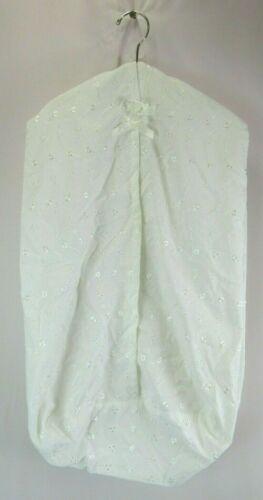 Kidsline White Embroidered Eyelet Diaper Caddy Holder Nursery Storage Decor