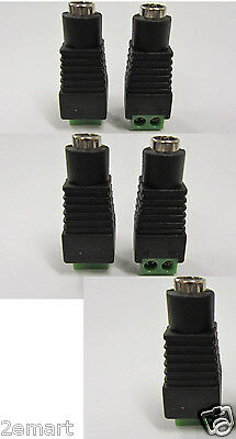 5pcs 5.5 x 2.1 2.1mm DC Power Female Plug Jack Connector for 12V CCTV Camera DVR
