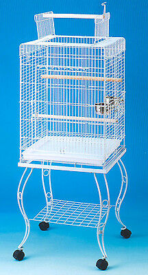 "58"" NEW Large Parrot Bird Cage Open Play Top With Stand Wheel 20x20x57""H-128"
