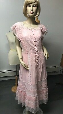 19th Century Dresses (NEW IN BAG J Peterman 19th Century Button Front Dress SZ 16 Bust 44 SALE $100.00 )