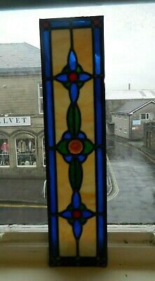 Antique Heavy Leaded Glass Panel with Jewel Centrepiece 30