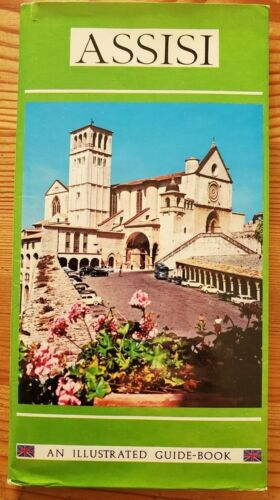 Vintage ASSISI Illustrated Guide Book and MAP of City and Monuments ITALY