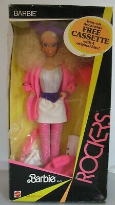 Barbie and The Rockers 1985 bonus Cassette Clothes More NRFB 1st Issue Mint Doll