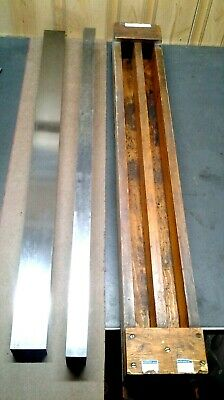 2 - Precision Machinist Straight Edges 35 In Wood Box  Ms-176