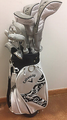 NEW Callaway Ladies Solaire II (2) Complete Golf Set 12pc - BLACK